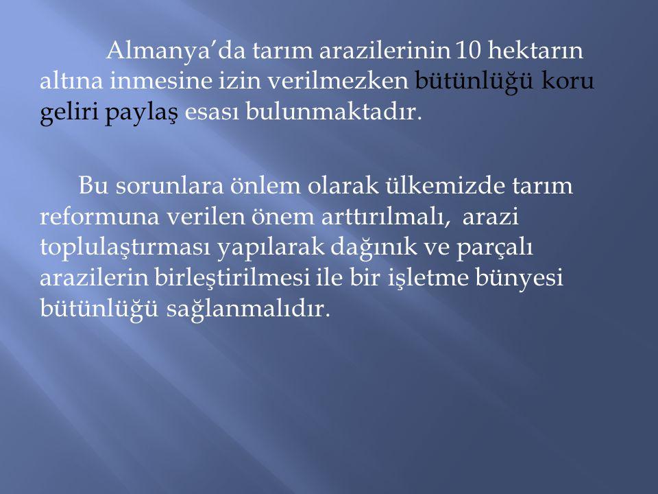 Türkiye'nin ekonomik,sosyal ve politik gelişme sürecinde önemli role sahip olan sektörlerden biriside tarım sektörüdür.