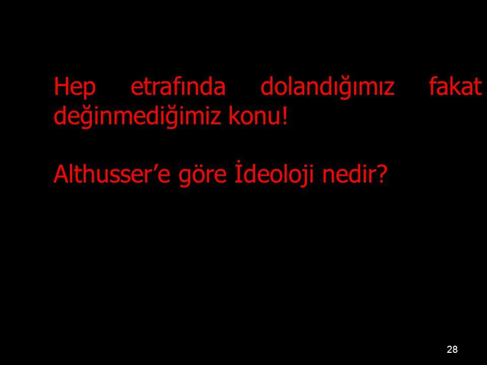 28 Hep etrafında dolandığımız fakat değinmediğimiz konu! Althusser'e göre İdeoloji nedir?