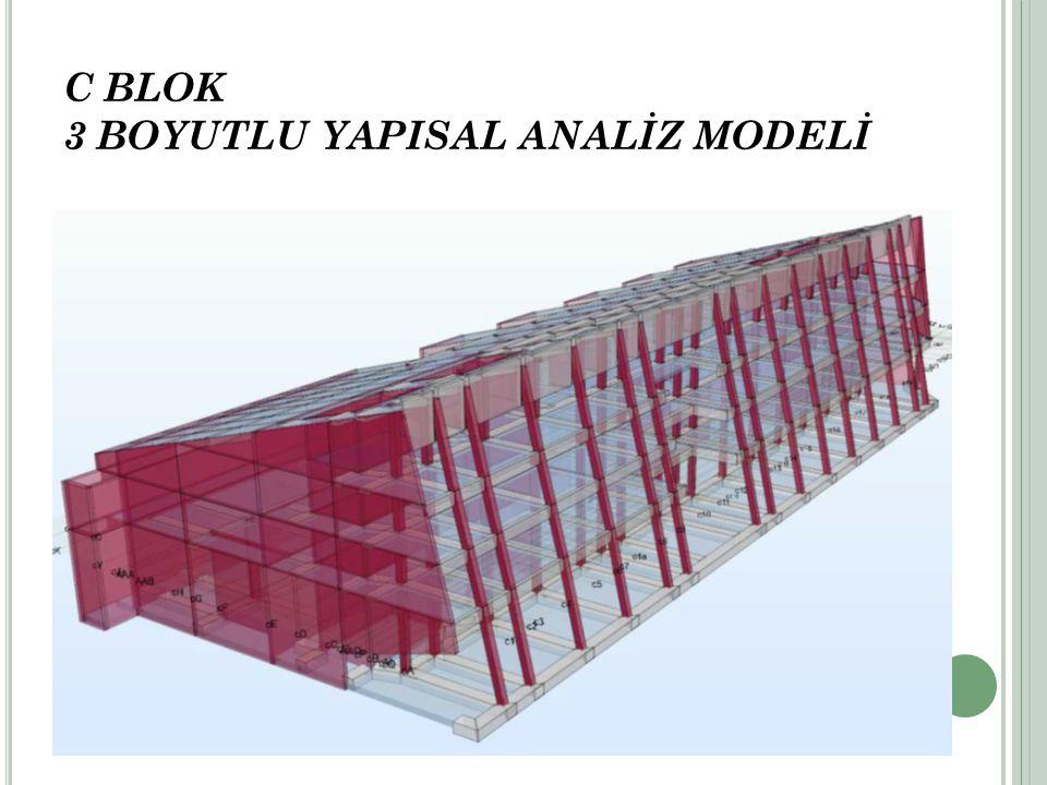 C BLOK 3 BOYUTLU YAPISAL ANALİZ MODELİ