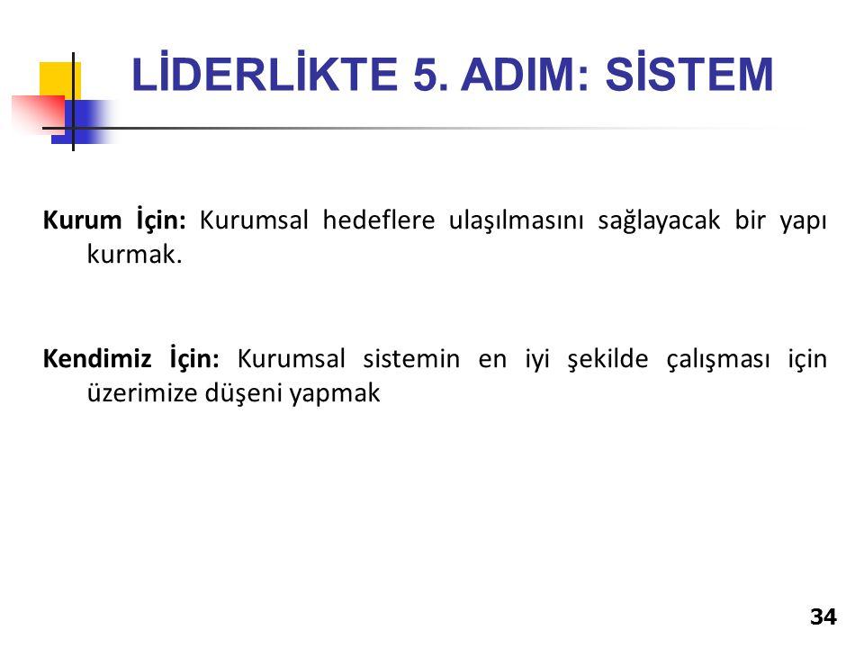 34 LİDERLİKTE 5.