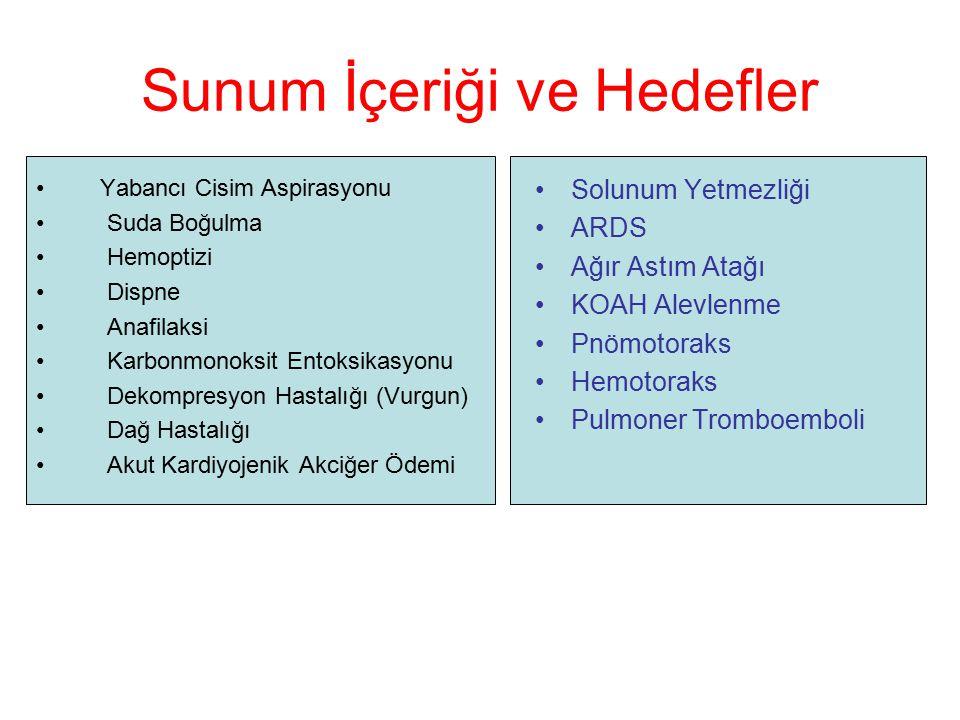 Hipoksi; –hiperventilasyon ve –hipoperfüzyon gibi refleks mekanizmaları aktive eder Tabak L.