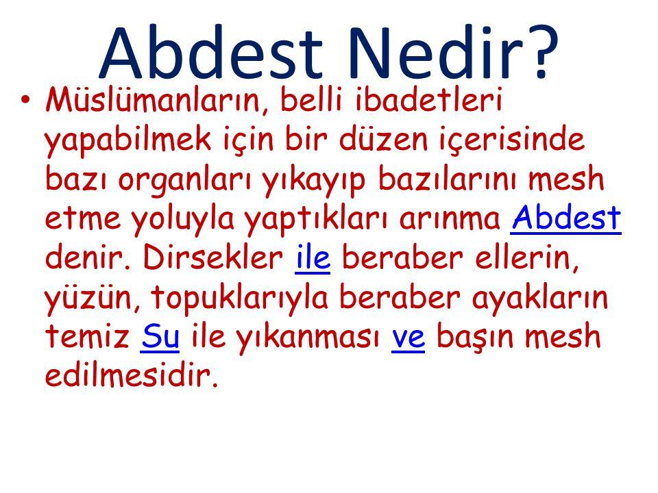 Abdest Nedir.