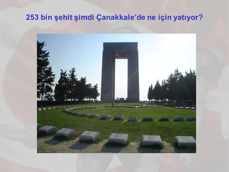 253 bin şehit şimdi Çanakkale'de ne için yatıyor?