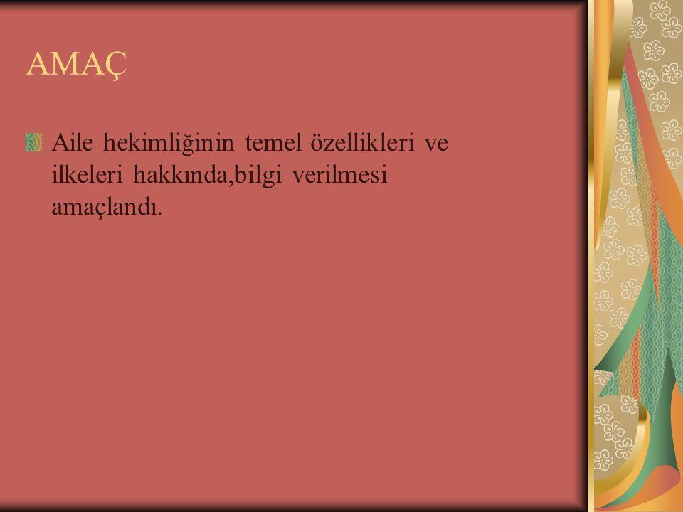 European definition of GP/FM, WONCA 2002 Aile Hekimi ; Disiplininin prensipleri do ğ rultusunda eğitim almış uzman doktordur.