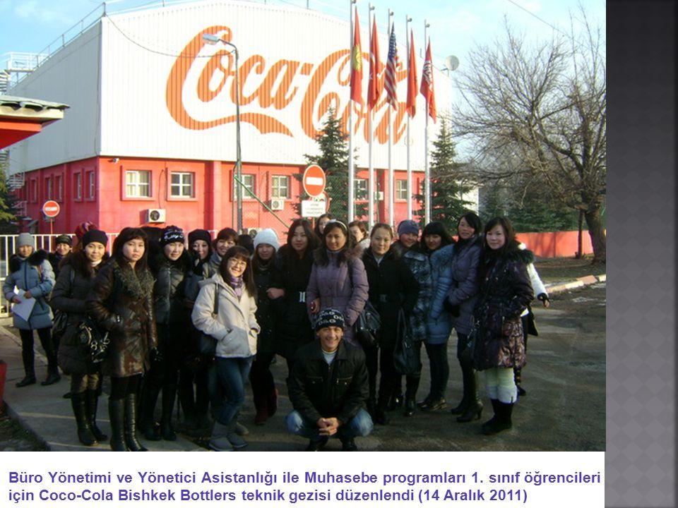 Büro Yönetimi ve Yönetici Asistanlığı ile Muhasebe programları 1. sınıf öğrencileri için Coco-Cola Bishkek Bottlers teknik gezisi düzenlendi (14 Aralı