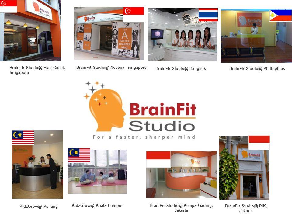 BrainFit Studio@ PIK, Jakarta KidzGrow@ Penang BrainFit Studio@ Novena, Singapore BrainFit Studio@ East Coast, Singapore KidzGrow@ Kuala Lumpur BrainFit Studio@ Kelapa Gading, Jakarta BrainFit Studio@ Bangkok BrainFit Studio@ Philippines