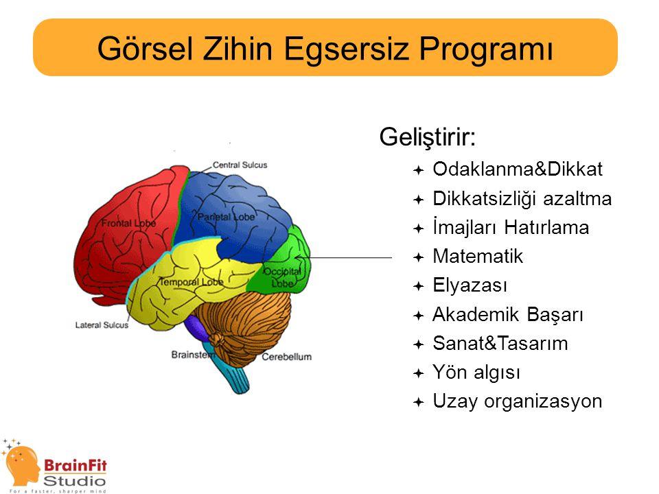 VISION Görsel Zihin Egsersiz Programı 2x/hafta, 55dk/seans, 20seans/kurs