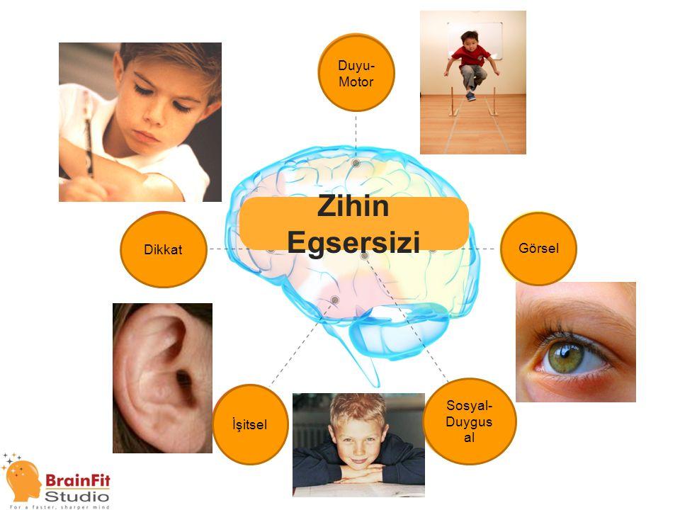 Brain Fitness Zihin Egsersizi Duyu- Motor Dikkat İşitsel Sosyal- Duygus al Görsel