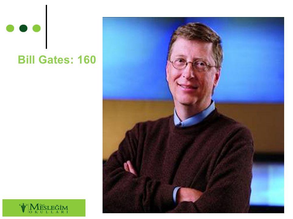 Bill Gates: 160 45