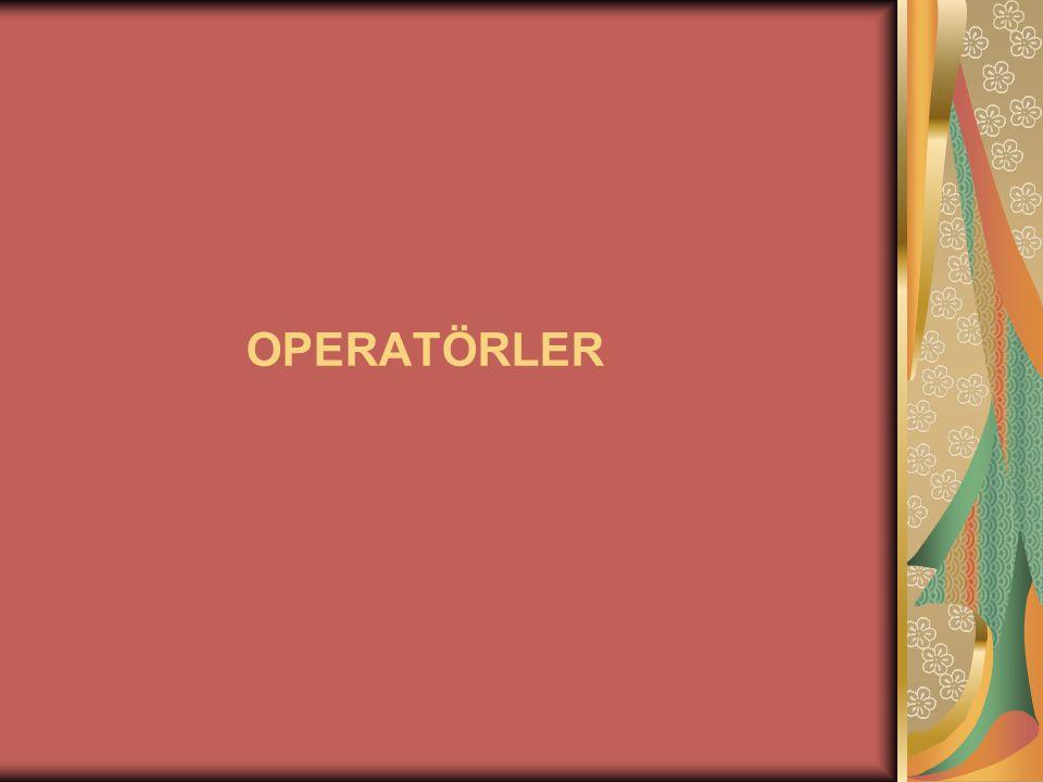 C# içerisinde Operatörler 3 grup altında incelenebilir.