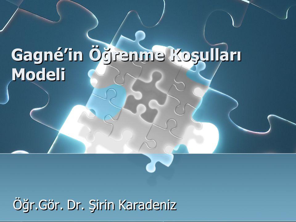 Gagné'in Öğrenme Koşulları Modeli Öğr.Gör. Dr. Şirin Karadeniz