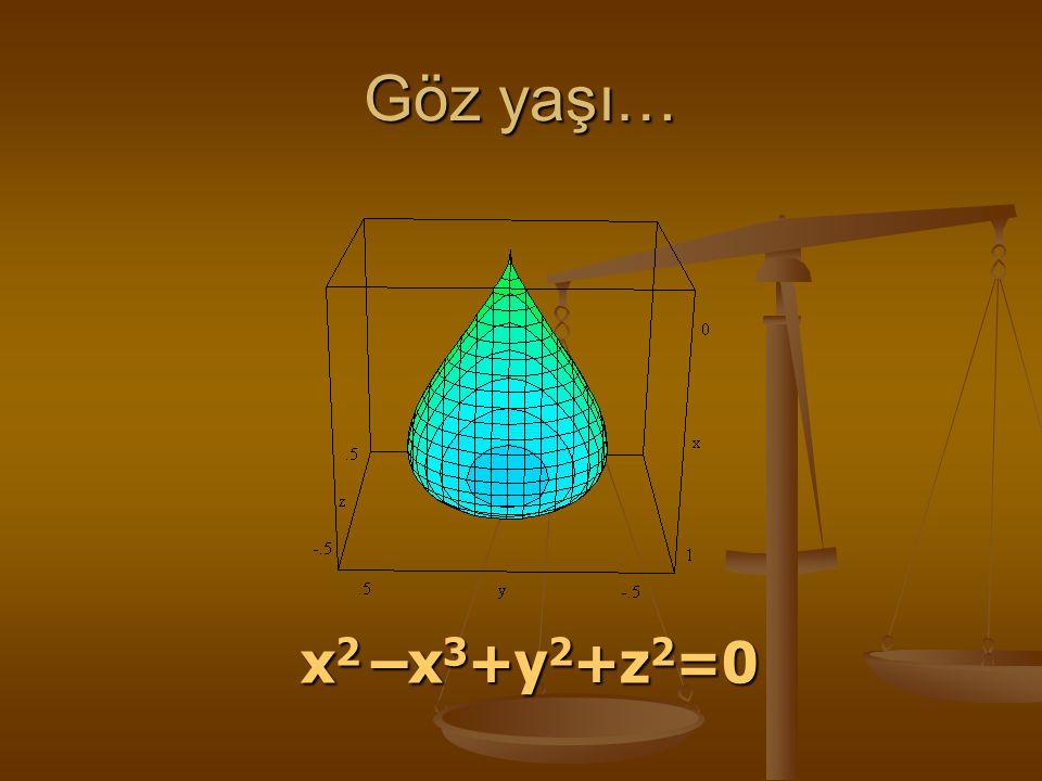 Göz yaşı… x2 –x3+y2+z2=0