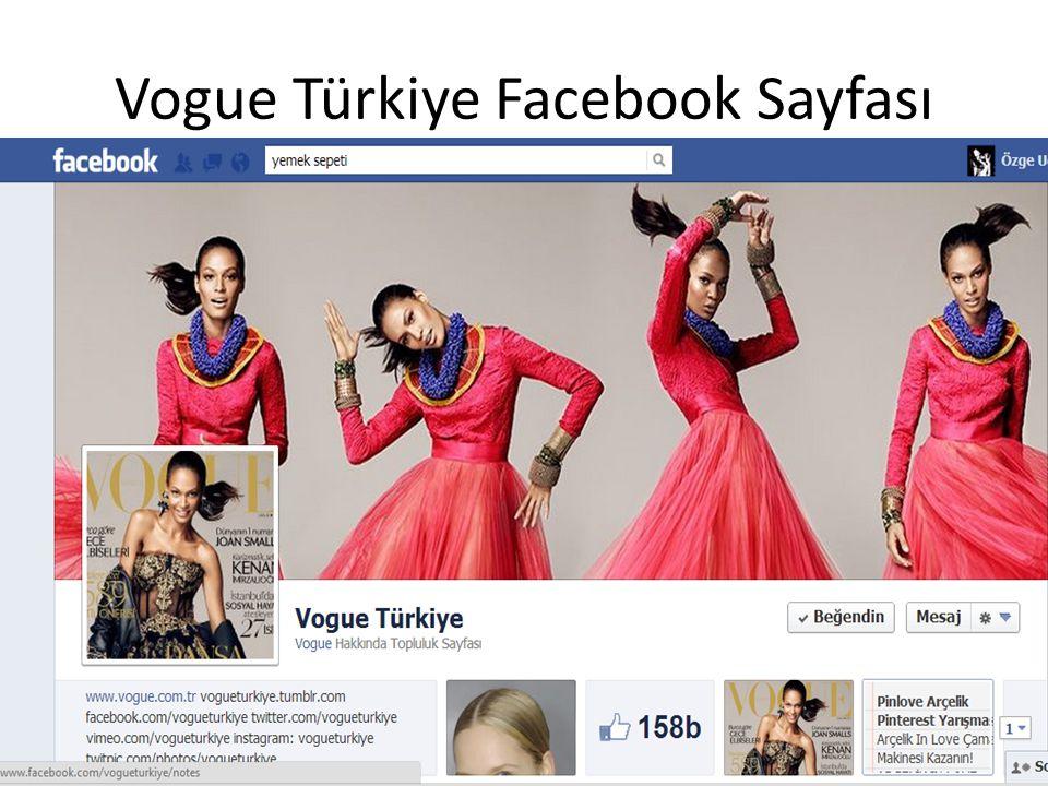Vogue Türkiye Facebook Sayfası