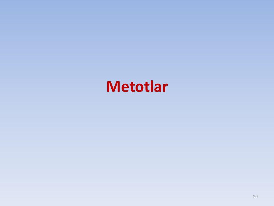 Metotlar 20