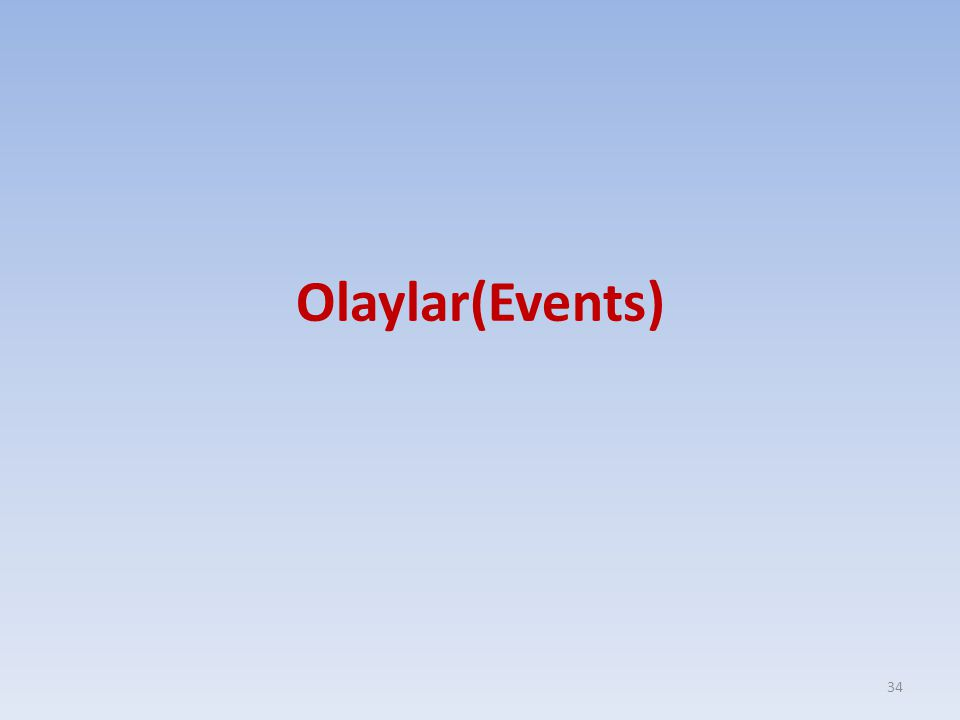 Olaylar(Events) 34