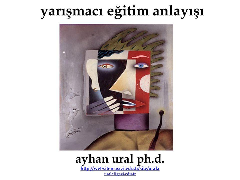 yarışmacı eğitim anlayışı ayhan ural ph.d. http://websitem.gazi.edu.tr/site/urala urala@gazi.edu.tr