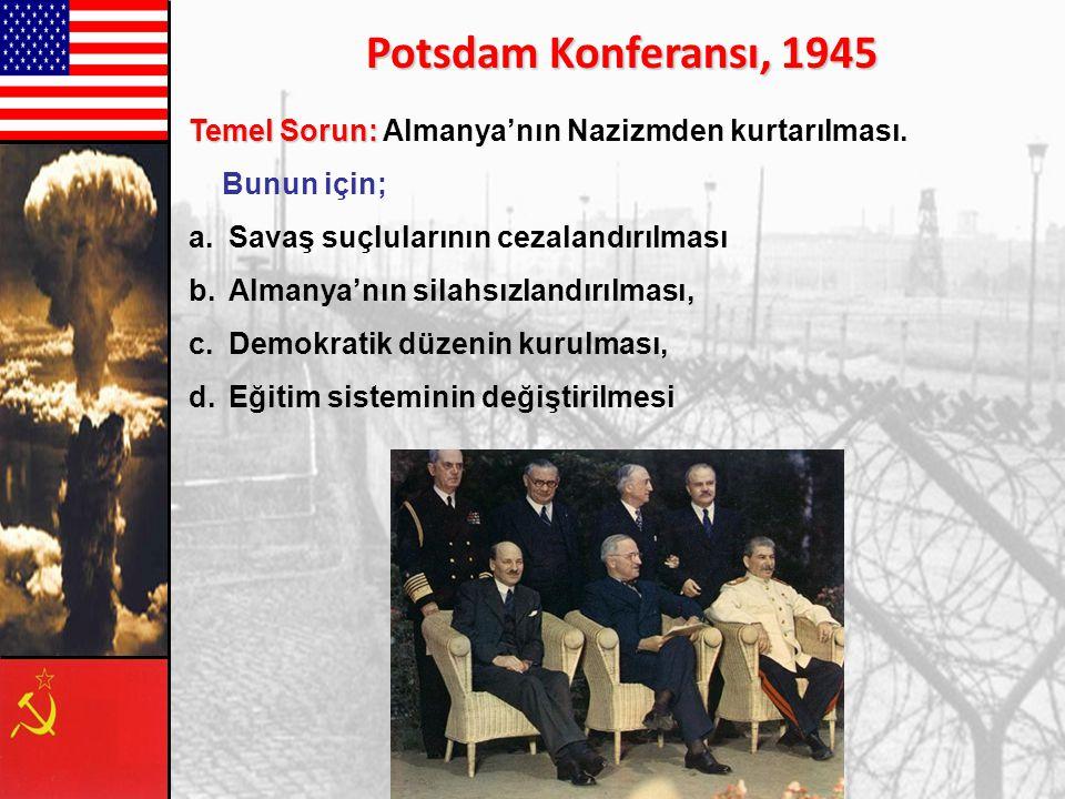 Yalta Konferansı'nda Almanya'nın işgal bölgeleri belirginleşip kabul edildi. Sovyetler Birliği Almanya'nın doğu bölgesini, İngiltere kuzeybatısını ve