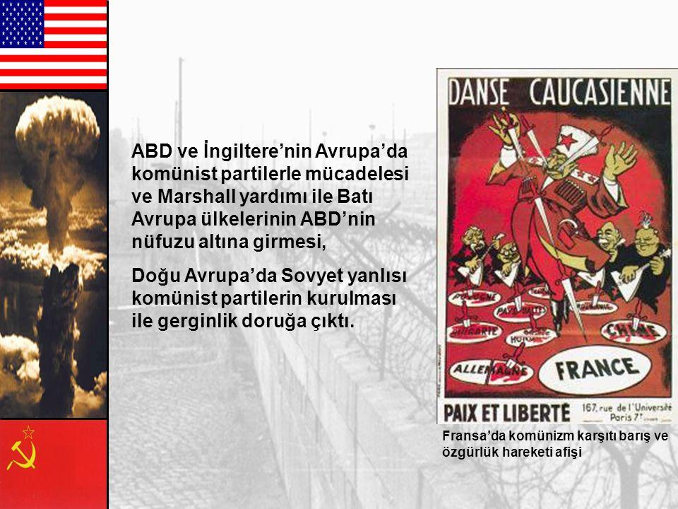 Kızıl Ordunun Doğu ve Orta Avrupa'daki hakimiyetinin geçici olmadığının ortaya çıkması Amerika'nın Montroe Doktrini'ni terk etmesi ve Sovyet yayılmacı