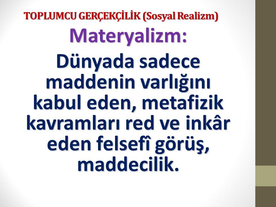 TOPLUMCU GERÇEKÇİLİK (Sosyal Realizm) 835 Satır eseriyle şairane üsluba karşı çıkmış, dizeci anlayışı yıkmıştır.