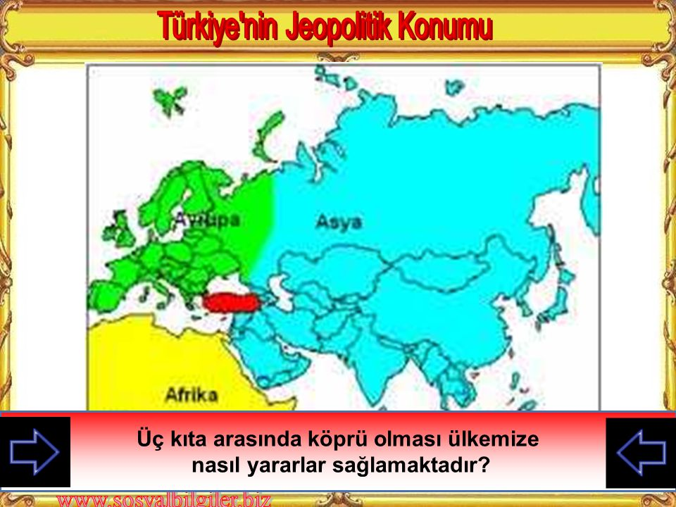 KAZANIMLAR 3. Türkiye'nin dünya üzerindeki konumunun öneminden yola çıkarak İkinci Dünya Savaşı sonrası değişen ülkeler arası ilişkileri değerlendirir