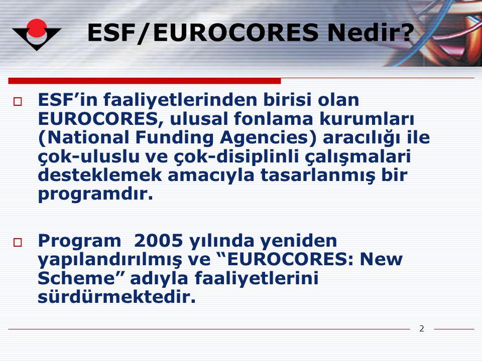 2 ESF/EUROCORES Nedir.