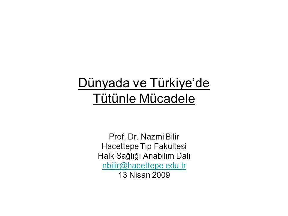 Dünyada ve Türkiye'de Tütünle Mücadele Prof.Dr.