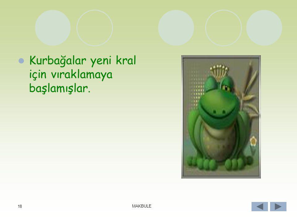 17 MAKBULE 17 Yılan, çevrede bulduğu kurbağaları bir lokmada midesine indiriyormuş