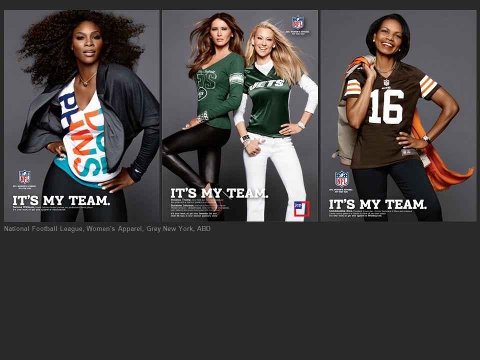 National Football League, Women's Apparel, Grey New York, ABD