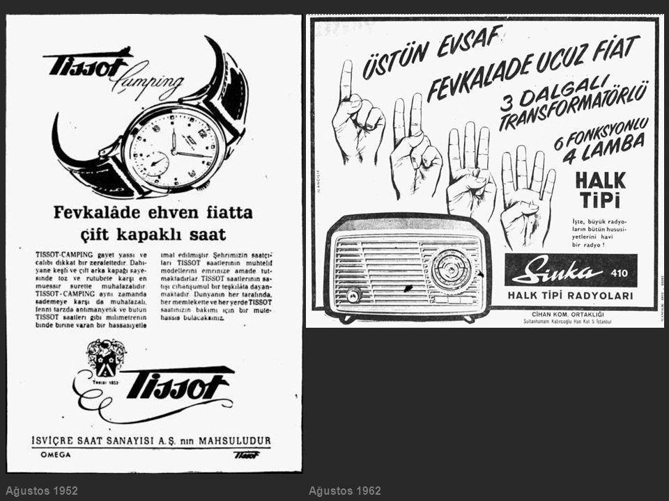 Ağustos 1952 Ağustos 1962