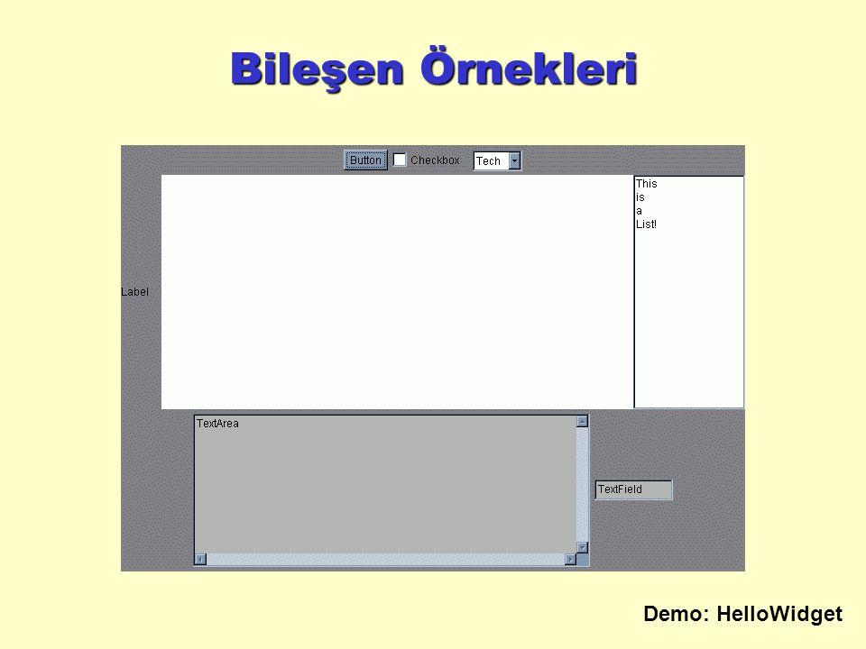 Bileşen Örnekleri Demo: HelloWidget