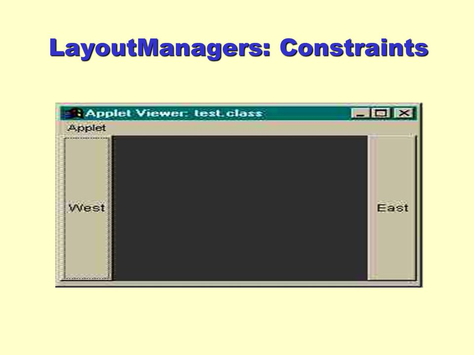 LayoutManagers: Constraints