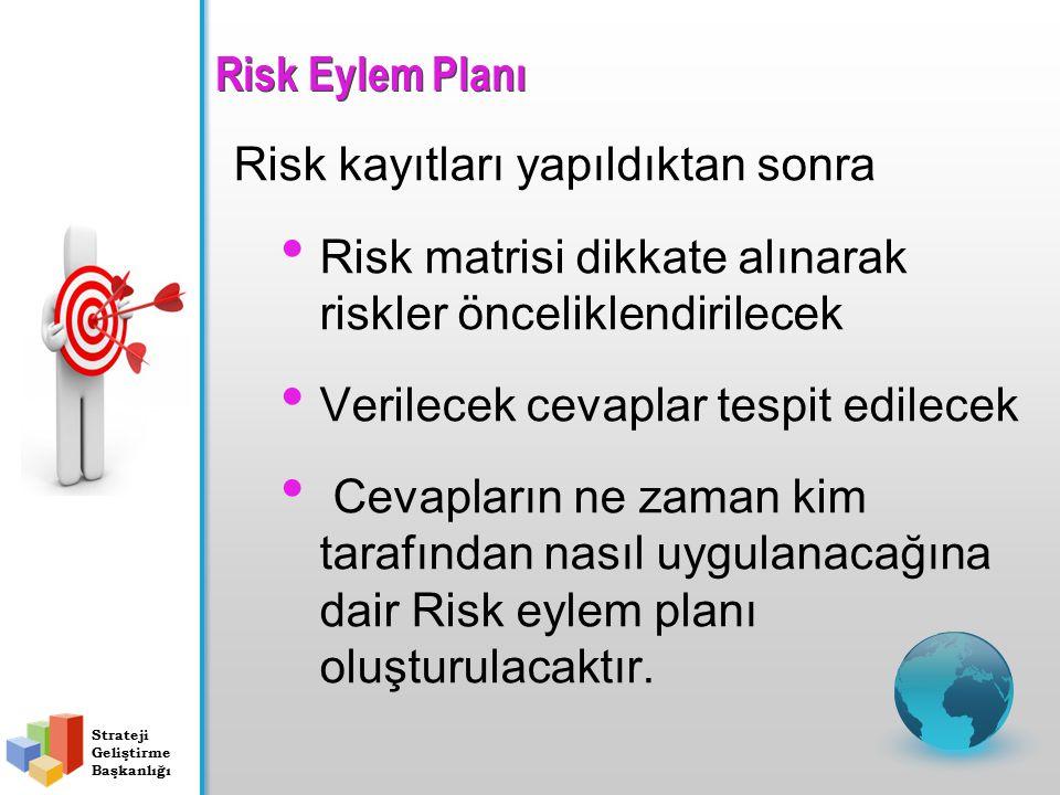 Risk Kayıtları - 2 Risklerin kaydedilmesi; Gerekli bilginin elde edilmesi ve raporlama mekanizması ile Doğru zamanda doğru kişilere iletilmesini Riski
