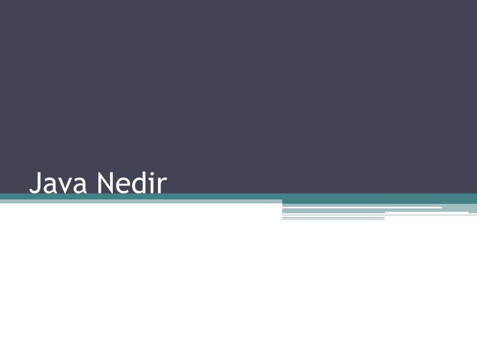 Java Nedir