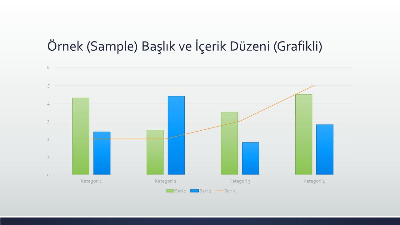 Örnek (Sample) Başlık ve İçerik Düzeni (Grafikli)