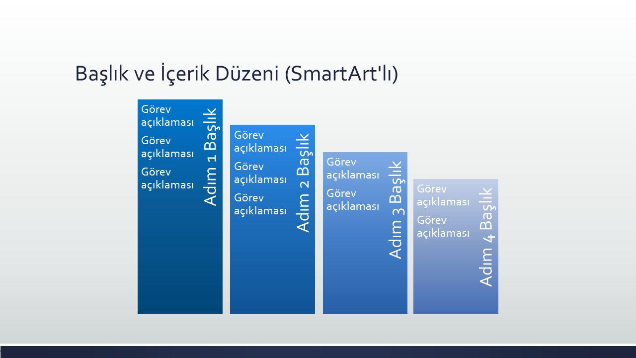 Başlık ve İçerik Düzeni (SmartArt lı)