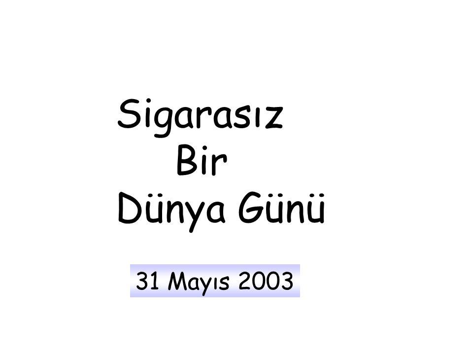 Her yıl 31 Mayıs Sigarasız Bir Dünya Günü olarak kutlanır.