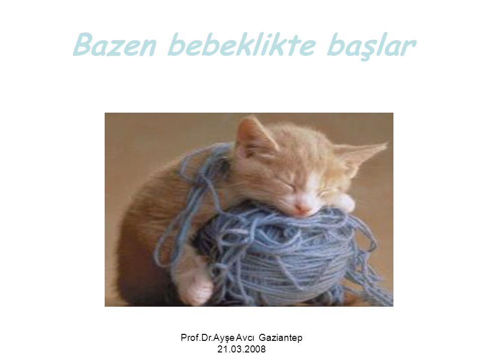 Prof.Dr.Ayşe Avcı Gaziantep 21.03.2008 Bazen bebeklikte başlar