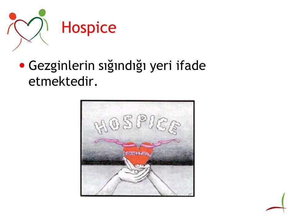 Hospice Gezginlerin sığındığı yeri ifade etmektedir.