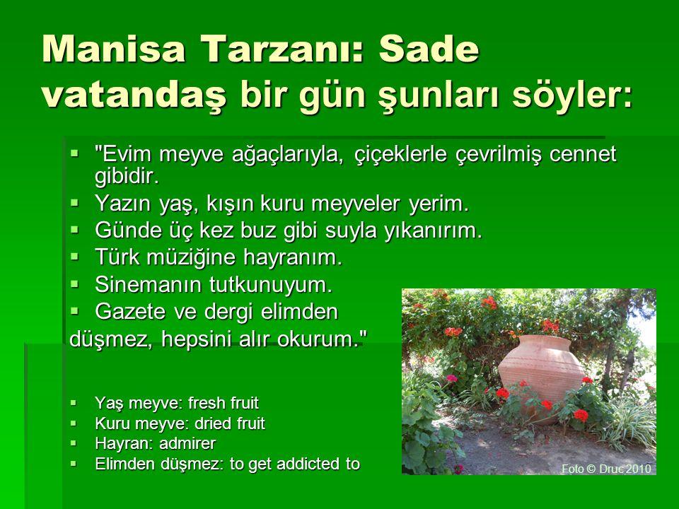 Manisa Tarzanı: Sade vatandaş bir gün şunları söyler: 