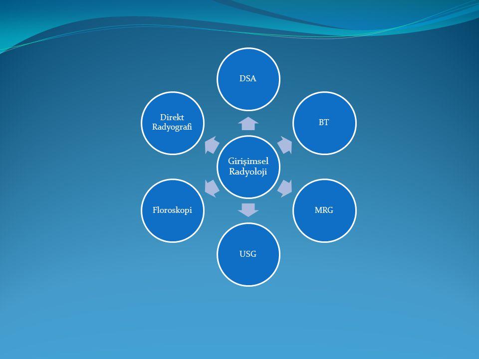 Girişimsel Radyoloji DSABTMRGUSGFloroskopi Direkt Radyografi