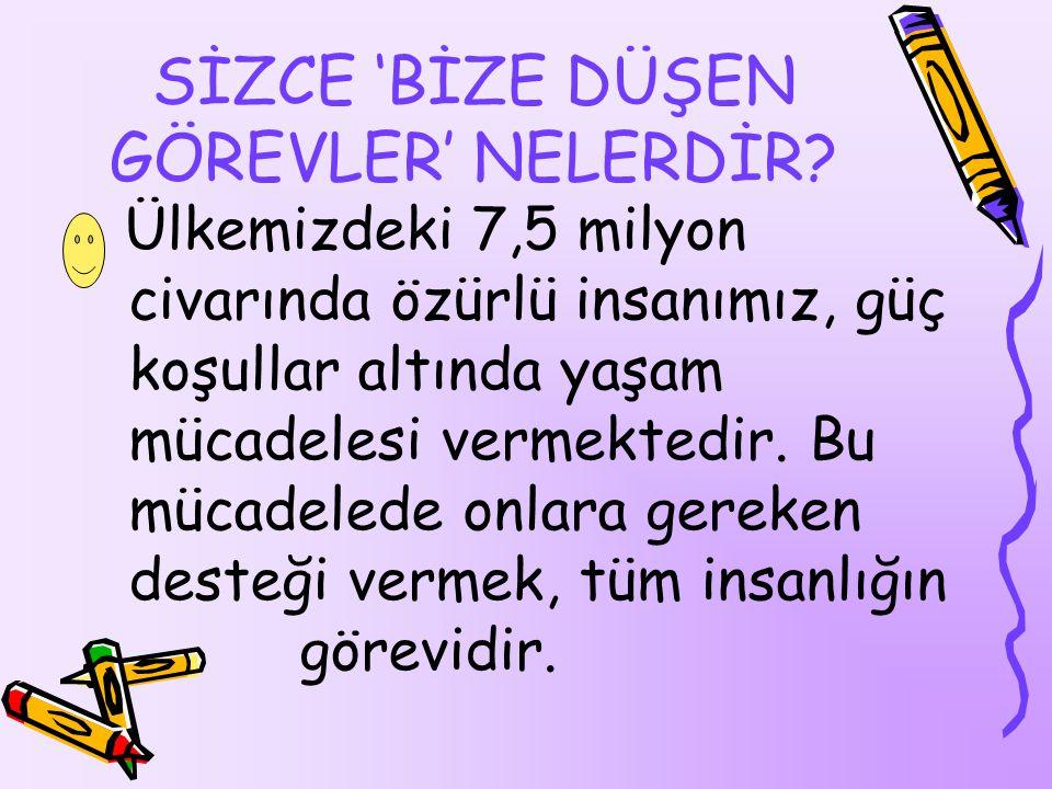 SİZCE 'BİZE DÜŞEN GÖREVLER' NELERDİR.
