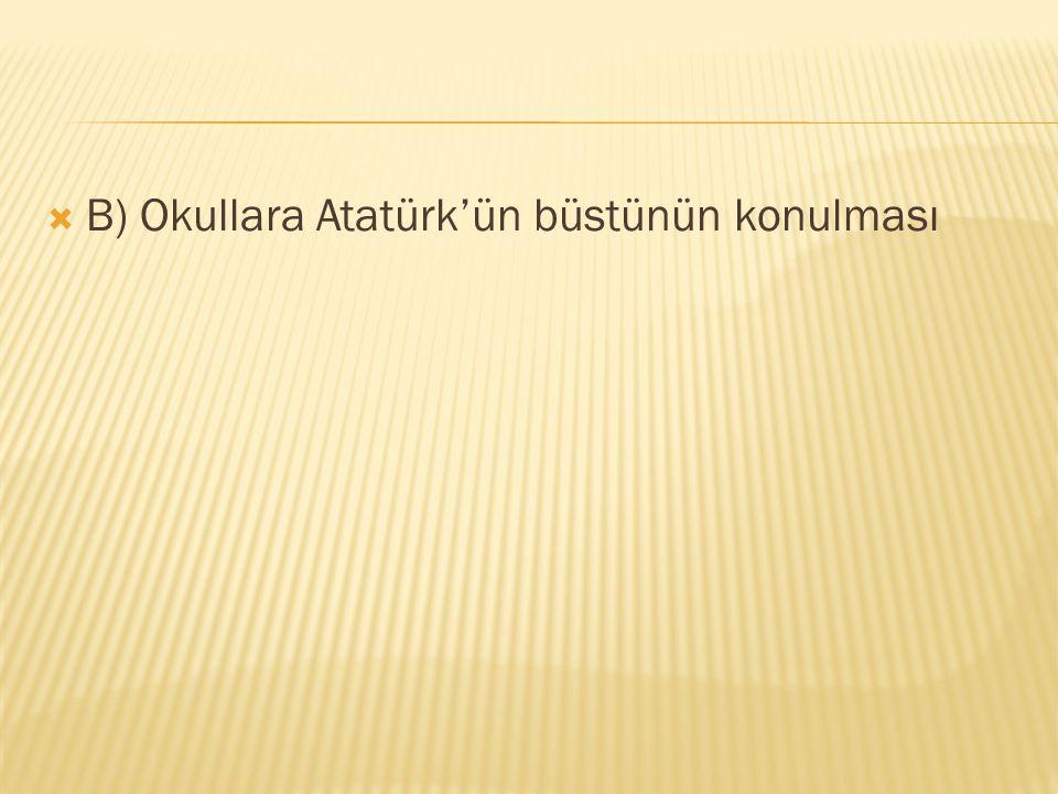  Aşağıdakilerden hangisi Atatürk'ün yaptığı yeniliklerden biri değildir.