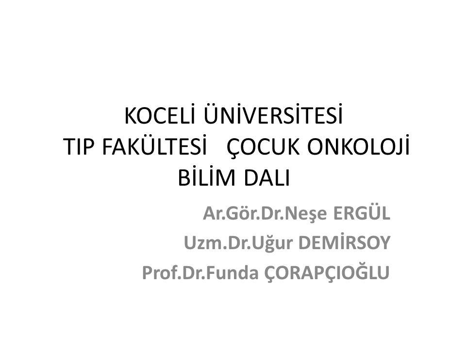 ÇOCUK ONKOLOJİ VAKA SUNUMU 10.03.2015