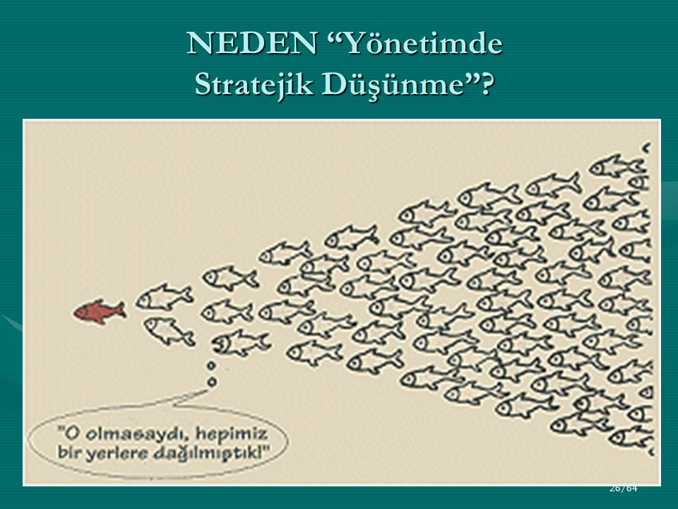 """26/64 NEDEN """"Yönetimde Stratejik Düşünme""""?"""