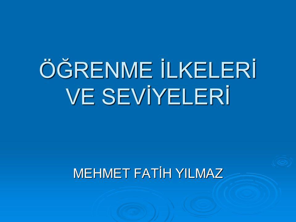 KAYNAKÇA  Akbaba, Ahmet, İlköğretim kurumlarında seviye sınıfları ve uygulama,Çağdaş Eğitim.226,1996.