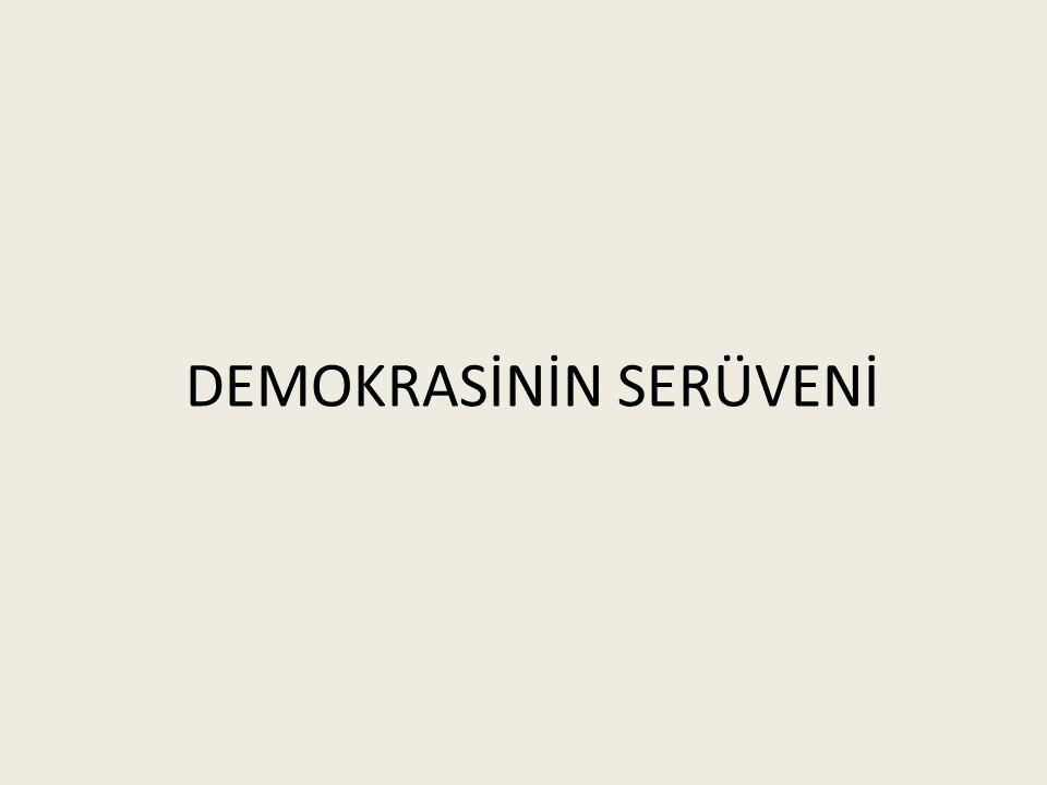 Demokrasi: Halkın kendi kendini yönetmesine denir.
