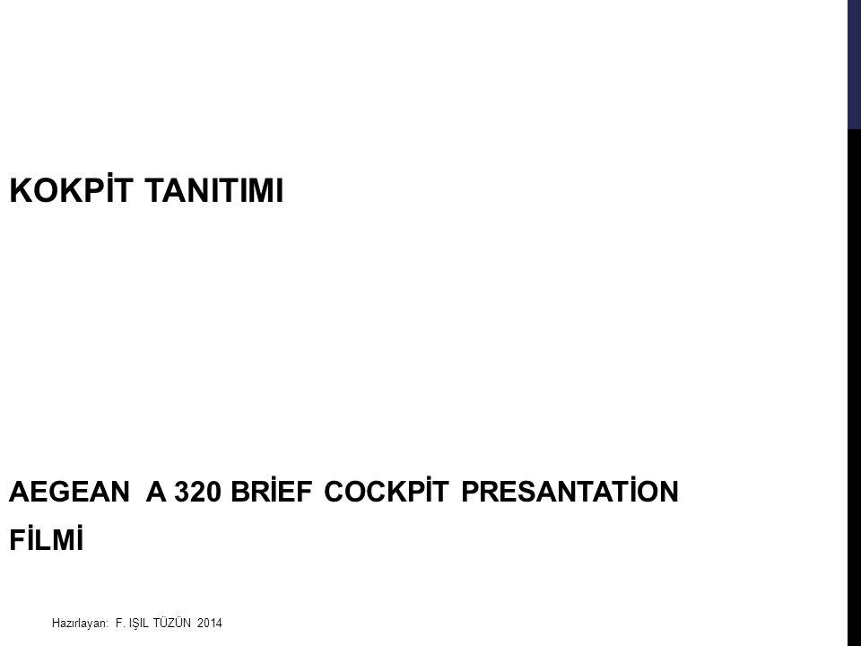 Hazırlayan: F. IŞIL TÜZÜN 2014 KOKPİT TANITIMI AEGEAN A 320 BRİEF COCKPİT PRESANTATİON FİLMİ