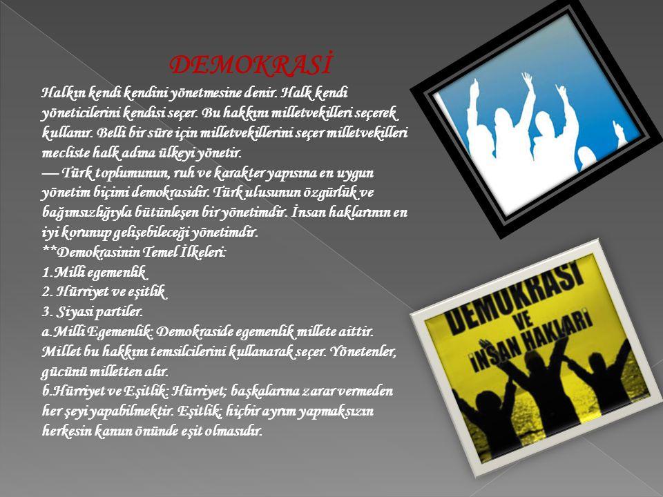 - İnsanların doğuştan gelen ve toplumda daha iyi yaşaması için olması gereken haklara biz insan hakları diyoruz.