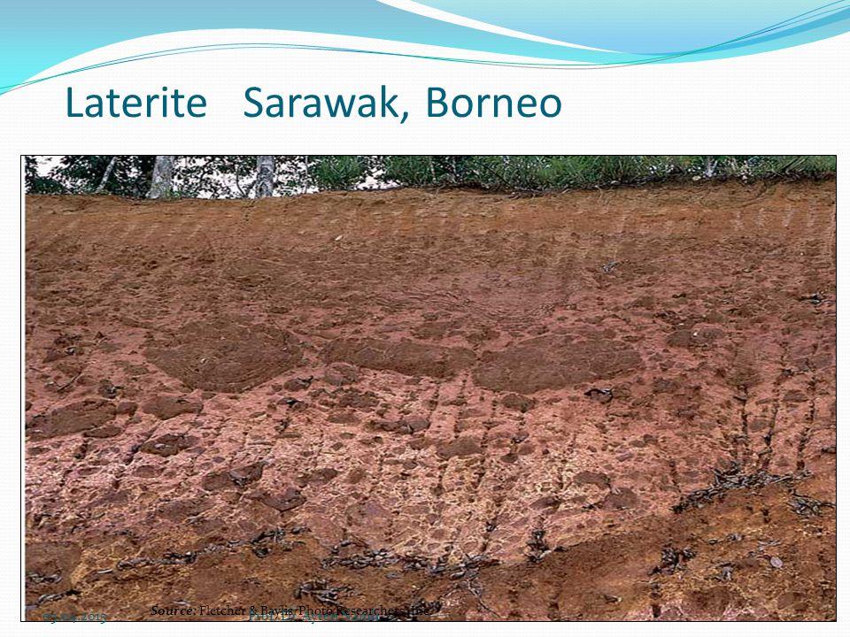 Laterite Sarawak, Borneo Source: Fletcher & Baylis/Photo Researchers, Inc. 05.04.2015Prof. Dr. Ayten Namlı