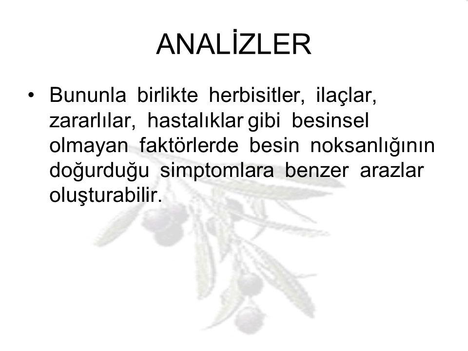 YAPRAK ANALİZLERİ Yaprak analizleri çok ve çeşitli amaçlar için yapılmaktadır.